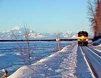 Fairbanks Winter Train The Alaska Railroad Aurora Winter