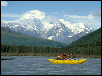 Mt. Denali on the Chulitna Raft Trip